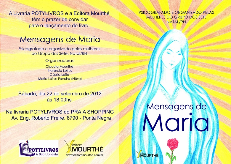 Convite MENSAGENS DE MARIA
